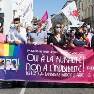 Reportage - La première Marche des Fiertés landaise (28 août 2021)