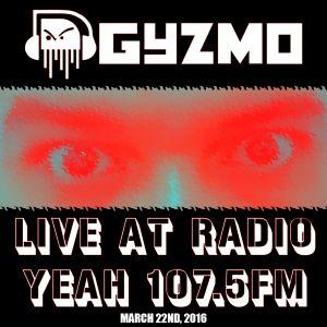GyZmo live @ Radio Yeah! Costa Rica 107.5 FM - March 22nd 2016 (2 hours of Liquid Funk)