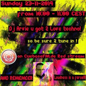 Dj Arvie got 2 love techno mix CuebaseFM.de Red stream 23-11-2014