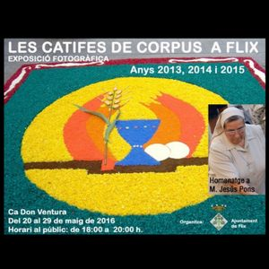 """Avui s'inaugura l'exposició """"Les catifes de Corpus a Flix"""""""