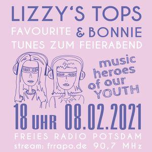 LIZZY'S TOPs & BONNiE - favourite tunes zum Feierabend, FEBRUAR 2021, Freies Radio Potsdam