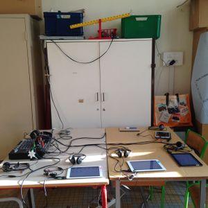 radio classe : voyage au pays de l'enregistrement – atelier son avec le CP-C école lacordaire, paris