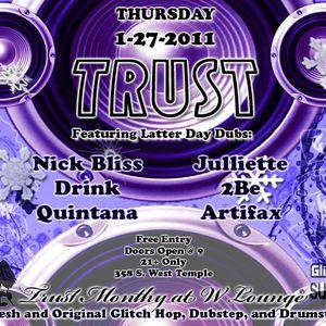 Quintana - Live Mix@Trust Jan 2011