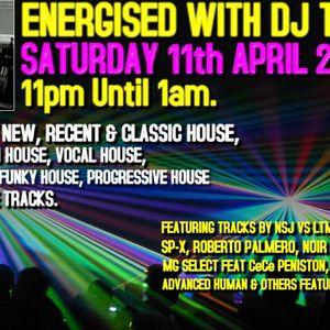 Energised With DJ Tim - 11th April 2015 - 103.2 Preston fm