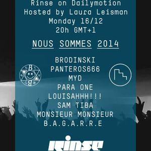 BRODINSKI VS. MYD - NOUS SOMMES 2014 X RINSE PARIS (2013.12.16 - FRANCE)