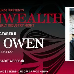 Commonwealth 05 October 2011 featuring Brad Owen