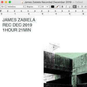 James Zabiela Rec Dec 2019
