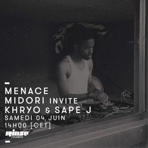 Menace Records : Midori Invite Khryo & Sape J - 04 Juin 2016