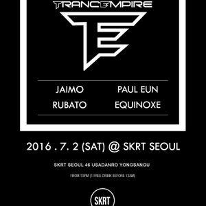 Paul Eun - Trance Set For TRANCEMPIRE @ SKRT SEOUL, South Korea On July 2, 2016