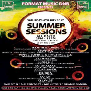IKON-B Format music dnb Summer Sessions Liquid Vocal Mix