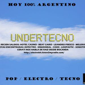 Undertecno 100% Pop Electro Tecno Argentino