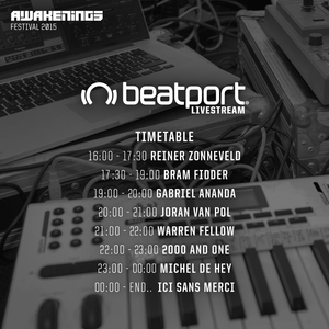 Reinier Zonneveld - live at Awakenings 2015, Beatport Lounge, Amsterdam - 27-Jun-2015