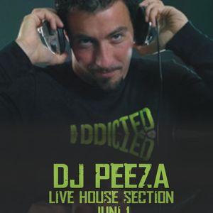 DJ PEEZA - LIVE HOUSE SECTION JUNE 1