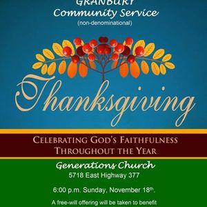 Father Stuart Smith - COMMUNITY THANKSGIVING SERVICE 2012