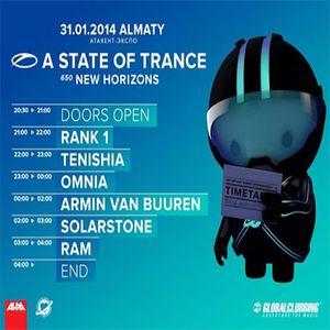 RAM - A State Of Trance 650 (Almaty, Kazakhstan) - 31.01.2014
