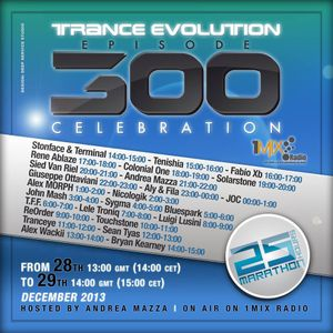 Bluespark - Trance Evolution 300 Celebration on 1mix Radio
