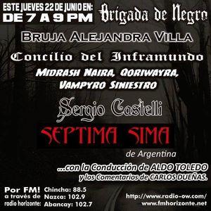 Brigada junto a La Bruja Alejandra Villa, Sergio Leonardo Castelli y  Septima Sima