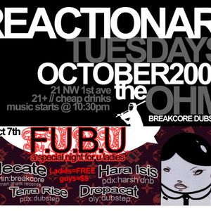 HECATE - live set from REACTIONARY TUESDAY - PDX - 10-07-2008