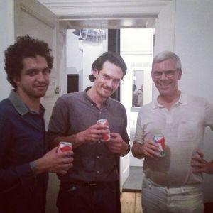 Pablo Larios and Tobias Spichtig with Karl Holmqvist