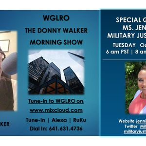 WGLRO RADIO with Jen Norris Military Justice For All the DWMS 6-Oct 2020