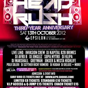 (HIP-HOP) - HEADRUSH 13TH OCTOBER @ EPSILON (LEICESTER) @DEEJAYGREYMAN