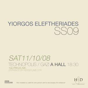 11.10.08 Yiorgos Elftheriades S/S 09 catwalk mix by Amateurboyz