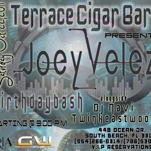 "Joey Velez ""The Podcast 009"" Birthday Set Live @ The Terrace Cigar Lounge in Miami,Fl 10/22/11."