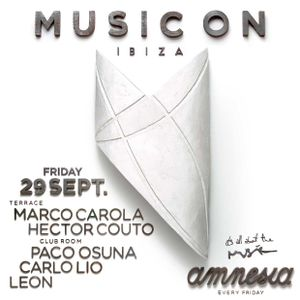 Hector Couto - Warm Up Set @ Music On - Amnesia Ibiza Terrace 29.09.17