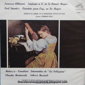 Orquesta Camara UC - Conjunto Música Antigua de la UC. LMC-1. Rca Víctor . 1965. Chile