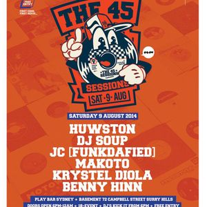Huwston live at The 45 Sessions Sydney 9th August 2014
