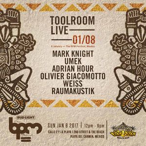 Adrian Hour - Live @ Toolroom Wah Wah Beach Bar The BPM Festival (Mexico) 2017.01.08.