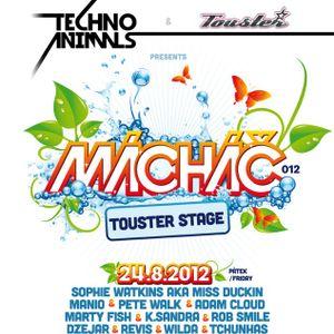 Proud-M DJs @ Techno Animals pres. Touster stage - Mácháč festival 2012