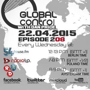 Dan Price - Global Control Episode 208 (22.04.15)