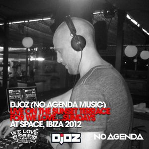 djoz - live on the Sunset Terrace for We love...Sundays at Space, Ibiza September 2012