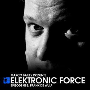 Elektronic Force Podcast 088 with Frank De Wulf
