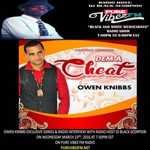 Owen Knibbs Radio Interview on Black and White Wednedays 3-23-16