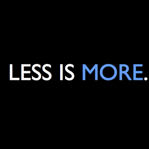 Less is more 2007