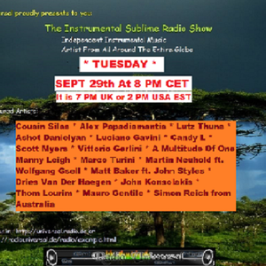 Instrumental Sublime Radio Show September 29th 2015