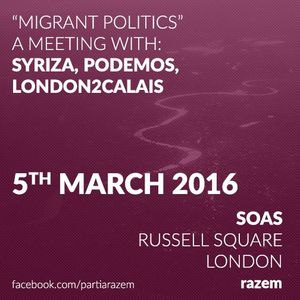05.03.16 - Migrant politics: a meeting with Podemos, Syriza and Razem