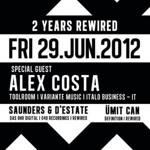 Alex Costa Dj set @ Rewired Sass Club Vienna 29/06/2012