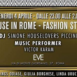 House in Rome In Fashion Style 'Gold Party'@Eve rome Dj Roberto Sallusti, Dj Simone Piccini