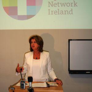 Joan Burton receives mixed reception at Dublin Trans Right's conference.