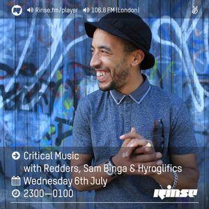Critical Sound No. 33 | Rinse FM | Redders, Sam Binga & Hyroglifics | 06.07.16