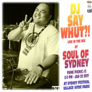 SOUL OF SYDNEY 337: DJ SAY WHUT?! at SOUL OF SYDNEY FUNK PICNIC 3 (JAN 22 2017)