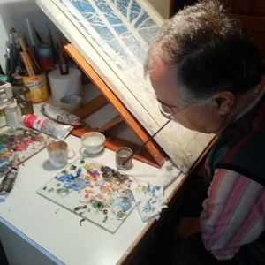 """""""Ανοιχτή Ζώνη"""": Ο ζωγράφος που ζωγραφίζει με το στόμα, κος Τριαντάφυλλος Ηλιάδης"""
