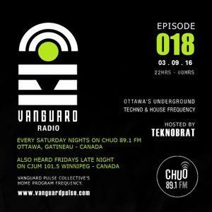 VANGUARD RADIO Episode 018 with TEKNOBRAT - 2016-09-03rd CHUO 89.1 FM Ottawa, CANADA