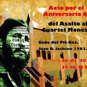Fernando Gambera, actividad recordatoria del Asalto al cuartel de Moncada