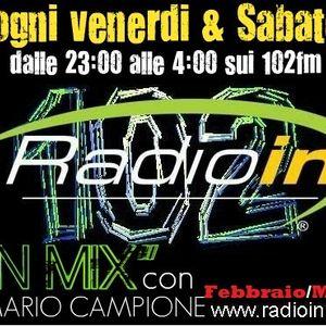 DjSet MARIO CAMPIONE - IN MIX - in onda su RADIO IN sui 102fm - Dicembre/Geannaio 2012