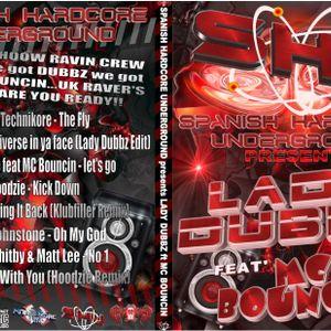 Lady Dubbz Featuring MC Bouncin live on hcore.fm - practice set 1!!