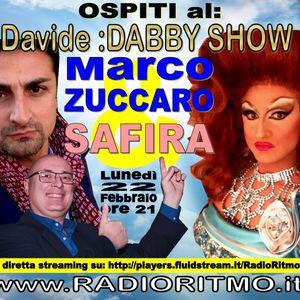 @Davide DABBY SHOW Safira Marco Zuccaro Drag Queen ospite su RADIO RITMO